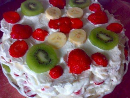 Рецепт. Торт фруктовый с зефиром