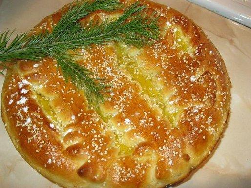 Рецепт. Пирог с абрикосами из дрожжевого теста
