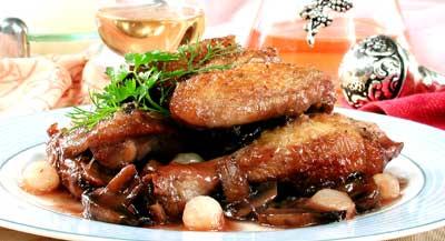 Рецепт. Курица в духовке в вине