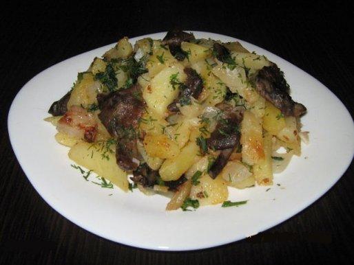 Рецепт. Картошка с грибами