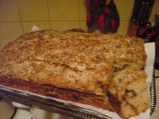 Рецепт. Кекс на кефире с грецкими орехами