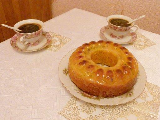 Рецепт. Творожный кекс с медом