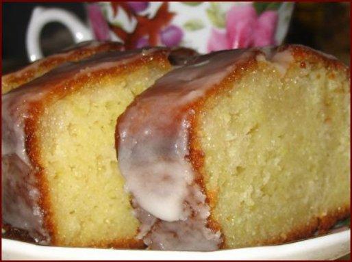 Рецепт. Лимонный кекс с коньяком и сиропом