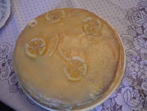 Рецепт. Лимонный бисквитный торт (бисквит)