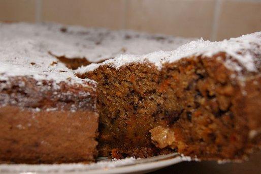 Рецепт. Морковный пирог с бананами