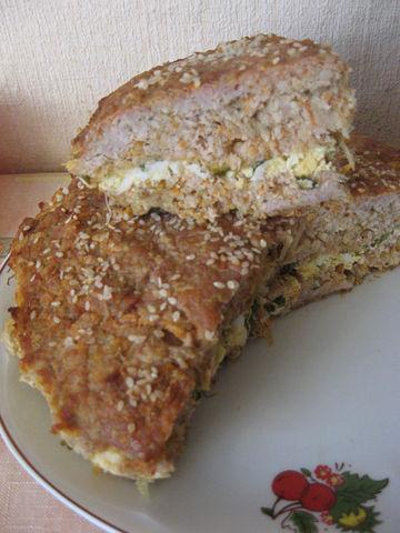 Рецепт. Мясной пирог с манной крупой