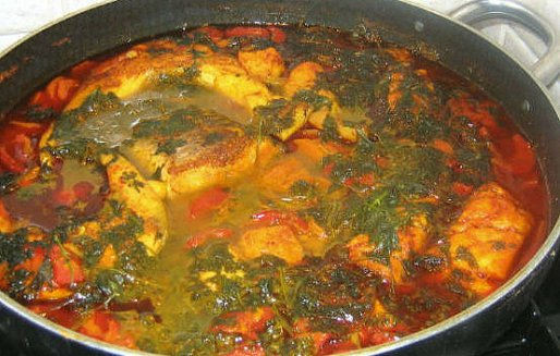 Рецепт. Тушеная рыба в остром соусе
