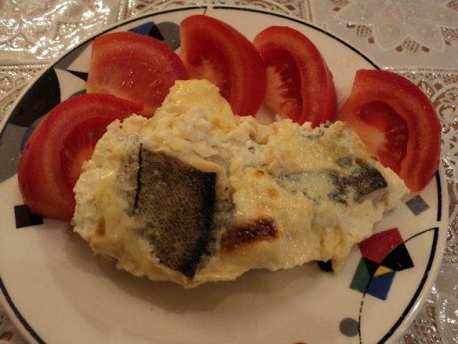 Рецепт. Жареная рыба в сметанном соусе