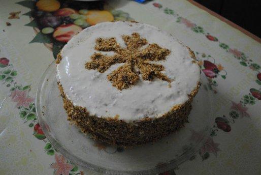 Рецепт. Торт Рыжик со сметанным кремом