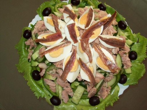 Рецепт. Салат с тунцом