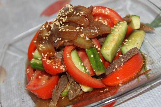 Рецепт. Салат с языком