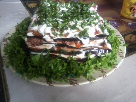 Рецепт. Торт из баклажанов
