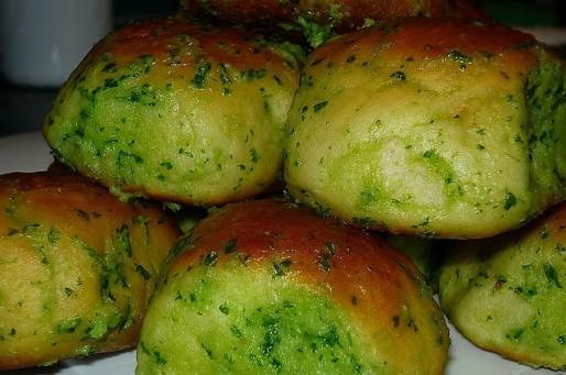 Рецепт. Булочки к борщу с зеленью