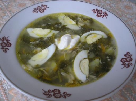Рецепт. Зеленый борщ со щавелем