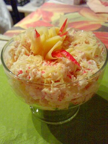 Рецепт. Салат с чесноком