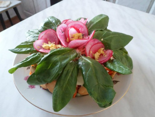 Рецепт. Украшение салатов