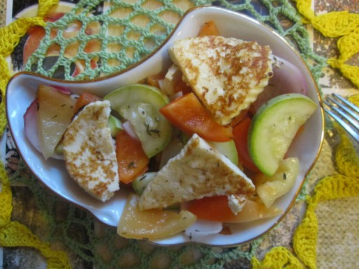 Рецепт. Горячий салат