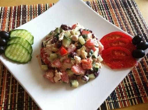 Рецепт. Салат с фасолью