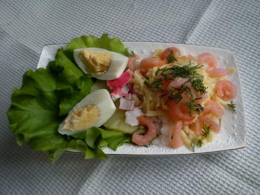 Рецепт. Салат с креветками