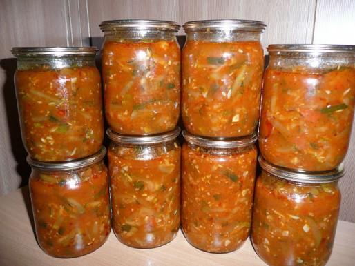 Рецепт. Салат из кабачков на зиму