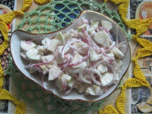 Рецепт. Салат с луком