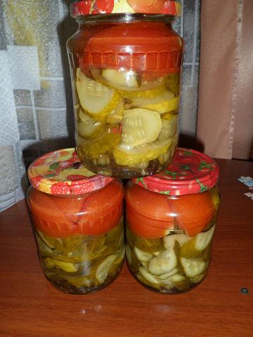 Рецепт. Салат помидоры огурцы на зиму