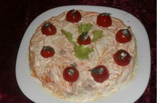 Рецепт. Салат с черносливом