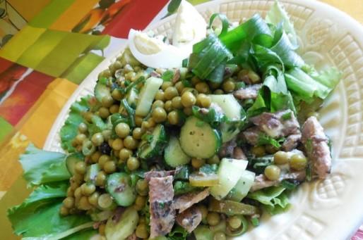Рецепт. Салат с горошком