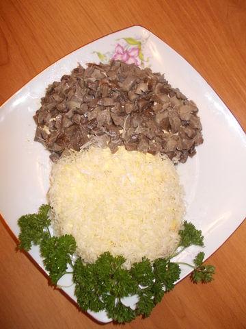 Рецепт. Салат с грибами