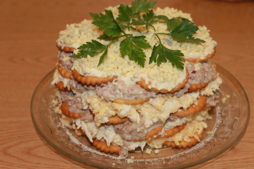 Рецепт. Салат с печеньем