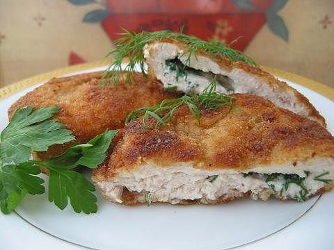 Рецепт. Куриное филе с брынзой