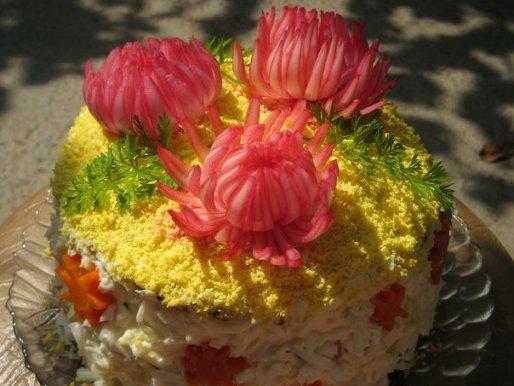 Рецепт. Закусочный торт из налистников