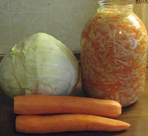 Рецепт. Засолка капусты с морковью на зиму
