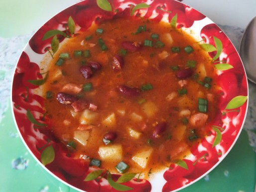 Рецепт. Фасолевый суп