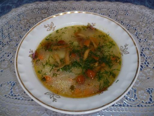 Рецепт. Суп с опятами