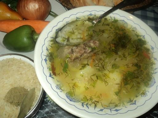 Рецепт. Суп с рисом