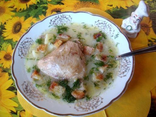 Рецепт. Суп с крупой