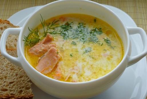 Рецепт. Суп из семги