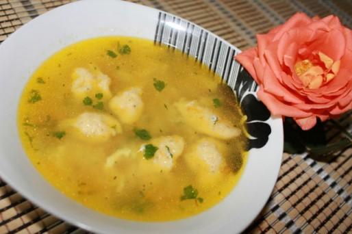 Рецепт. Суп с галушками