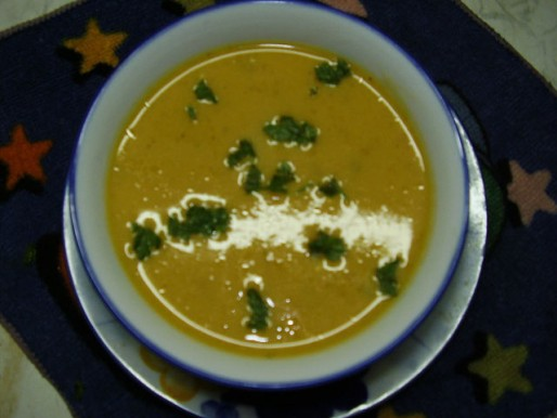 Рецепт. Морковный суп