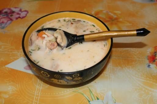 Рецепт. Морской суп