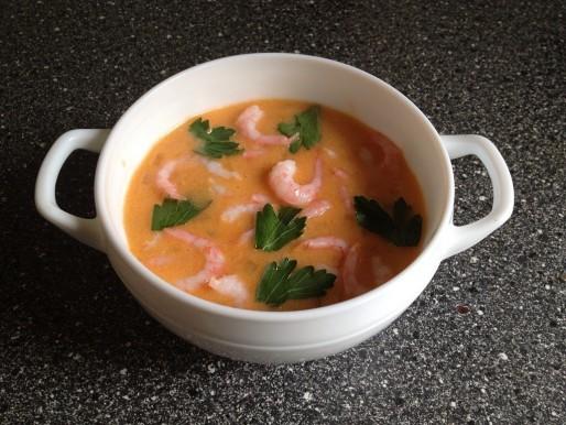 Рецепт. Суп с креветками