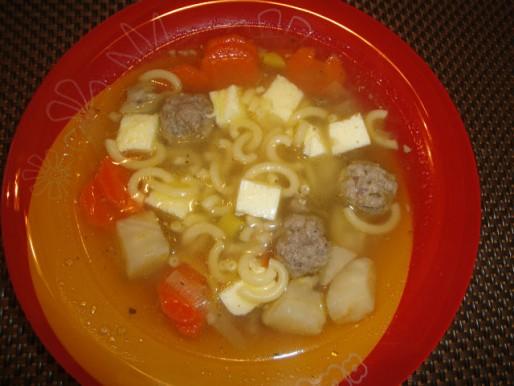 Рецепт. Суп с макаронами