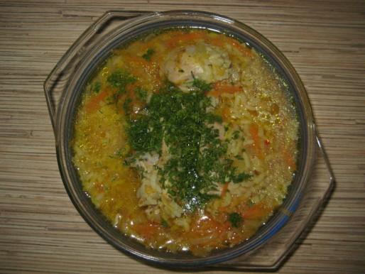 Рецепт. Суп в пароварке с курицей