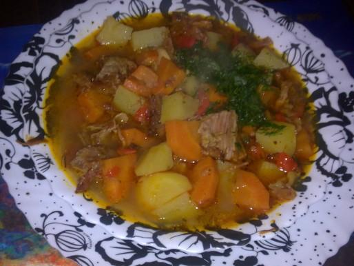 Рецепт. Суп из говядины