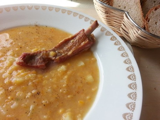 Рецепт. Суп с ребрышками