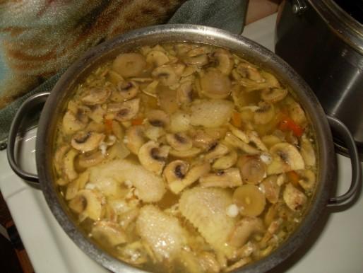 Рецепт. Суп из шампиньонов