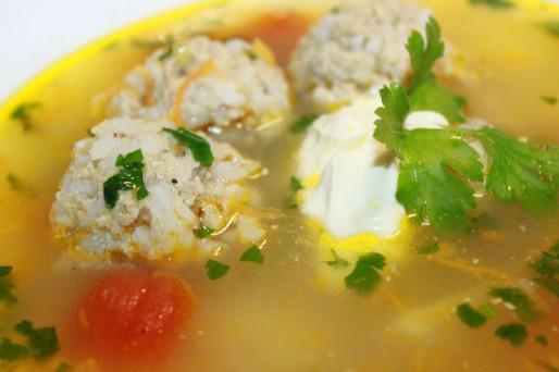 Рецепт. Суп с тефтелями