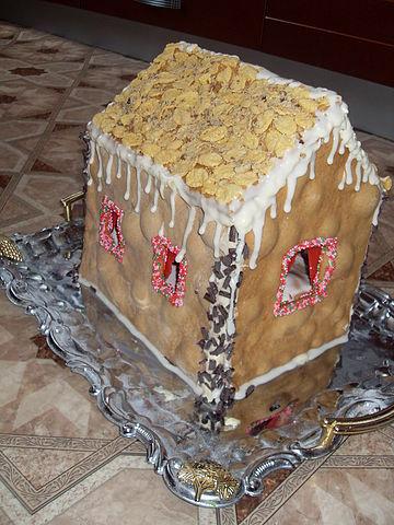 """Рецепт. Торт """"Домик"""" с медовыми коржами"""