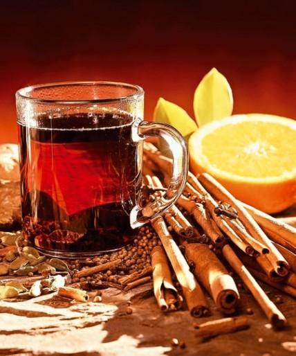Рецепт. Грог из чая и темного рома